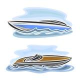 Иллюстрация вектора логотипа для шлюпки скорости иллюстрация вектора