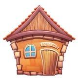 Иллюстрация вектора дома шаржа Стоковое Изображение RF