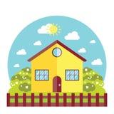 Иллюстрация вектора дома Стоковое Фото