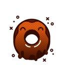 Иллюстрация вектора донута с поливой шоколада Бесплатная Иллюстрация
