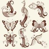 Иллюстрация вектора орнамента mehndi Традиционный индийский стиль, орнаментальные флористические элементы для татуировки хны, сти иллюстрация штока