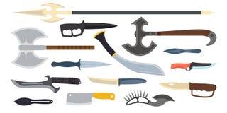 Иллюстрация вектора оружия ножей Стоковые Фотографии RF