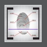 Иллюстрация вектора доступа блока развертки отпечатка пальцев позволено отказанная Стоковая Фотография RF