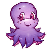 Иллюстрация вектора осьминога в стиле шаржа Стоковое Фото