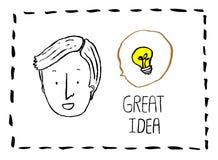 Иллюстрация вектора отличной идеи Стоковые Изображения