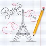 Иллюстрация вектора Парижа Стоковые Изображения