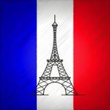 Иллюстрация вектора Парижа Стоковое Изображение RF