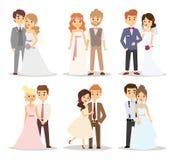 Иллюстрация вектора пар свадьбы Стоковые Фотографии RF