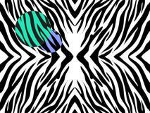 Иллюстрация вектора печати зебры на белой предпосылке с покрашенными пятнами Стоковые Фотографии RF