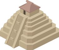 Иллюстрация вектора пирамиды Стоковые Фото