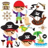 Иллюстрация вектора пирата Стоковые Фото