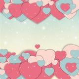 Иллюстрация вектора поздравительной открытки дня валентинки s St Стоковое Изображение RF