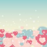 Иллюстрация вектора поздравительной открытки дня валентинки s St Стоковая Фотография RF