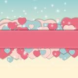 Иллюстрация вектора поздравительной открытки дня валентинки s St Стоковые Изображения RF