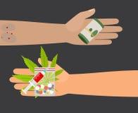 Иллюстрация вектора покупки лекарств Стоковые Фото