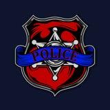 Иллюстрация вектора полиции эмблемы Стоковые Изображения RF