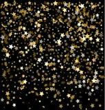 Иллюстрация вектора праздничная падающих звезд Стоковые Фотографии RF