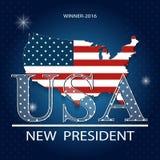 Иллюстрация вектора президентских выборов в Соединенных Штатах Стоковое Изображение