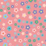 Иллюстрация вектора предпосылки картины иллюстрации венка цветка весны природы красочная безшовная Стоковая Фотография RF