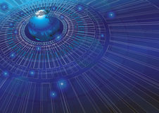 Иллюстрация вектора предпосылки концепции технологии мира стоковое изображение