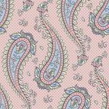 Иллюстрация вектора предпосылки Пейсли безшовной картины орнаментальная Стоковая Фотография