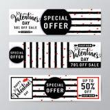 Иллюстрация вектора предпосылки продажи дня валентинок Стоковые Изображения RF