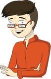 Иллюстрация вектора представлять молодого человека Стоковое Фото