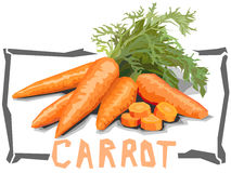 Иллюстрация вектора простая морковей Стоковое Изображение