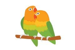Иллюстрация вектора птицы дикого животного попугая неразлучника шаржа тропическая бесплатная иллюстрация