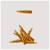 Иллюстрация вектора пули Calliber Стоковые Изображения