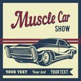 Иллюстрация вектора плаката выставки мышцы автомобиля Стоковое Изображение