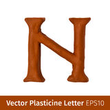 Иллюстрация вектора пластилина помечает буквами английский алфавит Стоковое Изображение RF