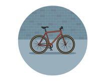 Иллюстрация вектора плоская велосипеда Стоковое Фото