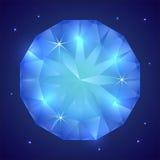 Иллюстрация вектора драгоценной драгоценной камня сапфира иллюстрация штока