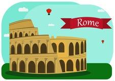 Иллюстрация вектора римского Колизея Стоковые Изображения RF