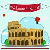 Иллюстрация вектора римского Колизея Стоковая Фотография