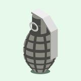Иллюстрация вектора ручной гранаты равновеликая Стоковые Изображения