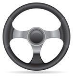 Иллюстрация вектора рулевого колеса автомобиля Стоковое Изображение RF