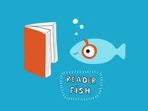 Иллюстрация вектора рыб читателя Стоковое Изображение RF