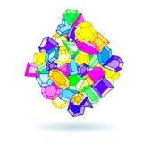 Иллюстрация вектора самоцветов doodle шаржа бесплатная иллюстрация