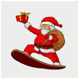 Иллюстрация вектора Санта Клауса Стоковое Изображение