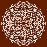 Салфетка на коричневом цвете Стоковая Фотография