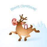Иллюстрация вектора северного оленя рождества Стоковая Фотография RF