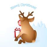 Иллюстрация вектора северного оленя рождества Стоковое Изображение