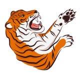 Иллюстрация вектора сердитого тигра Стоковое Изображение