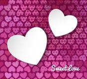 Иллюстрация вектора сердца бумаги 3d Стоковая Фотография