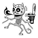 Иллюстрация вектора скелетов Стоковое Изображение RF