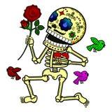 Иллюстрация вектора скелетов Стоковые Изображения RF