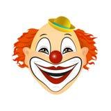 Иллюстрация вектора смеясь над клоуна Иллюстрация вектора плоского дизайна Стоковые Изображения RF