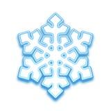 Иллюстрация вектора снежинки three-demention Стоковая Фотография